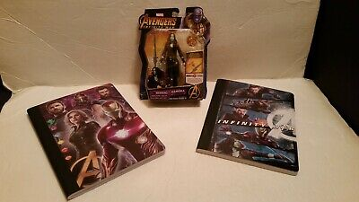 Marvel Avengers Infinity War Gamora Action Figure And 2 Composition Notebooks