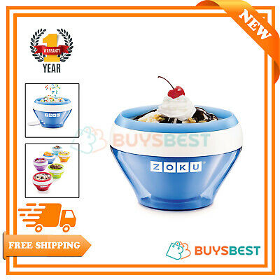 Zoku Stainless Steel Ice Cream Maker In Blue - ZK120-BL