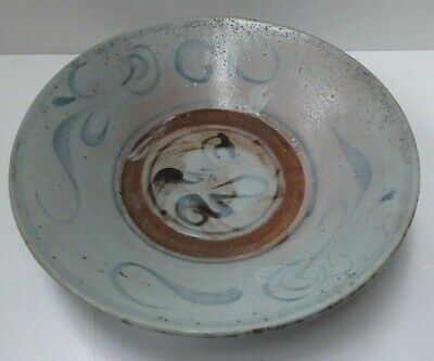Early Antique Chinese Ming Dynasty Swatow Pottery Bowl
