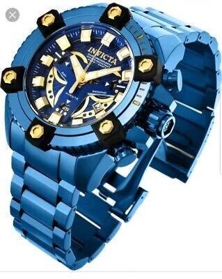 New Invicta Grand Octane Coalition Forces Blue Label 63mm Swiss Mvt Steel Watch