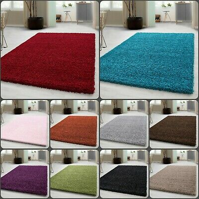 Extra Thick Dense Pile Shaggy Rug For Living Room Area Rugs Runner Non Shed 5cm