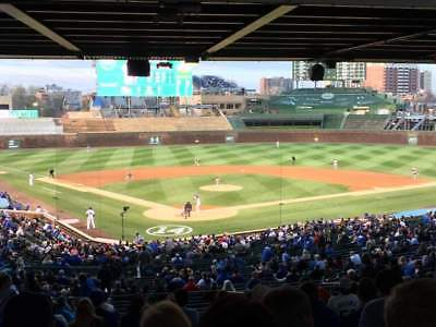1 ticket LOWER BEHIND HOME Chicago Cubs vs Brewers 8/4/19 Wrigley Field 8/4
