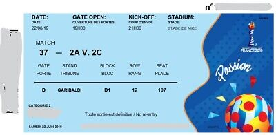 Tickets to WC football France NICE 16th-finale 22th June 3# available