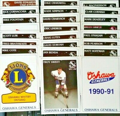 1990-91 Oshawa Generals Team Singles*LINDROS**U-PICK**FREE COMBINED SHIPPING*