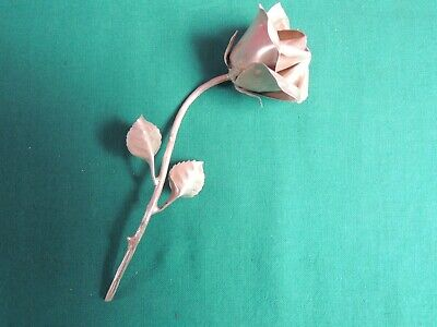 *L68*-   Rosa  In  Argento  800 -  14  Cm - Silver  Rose - Sterling