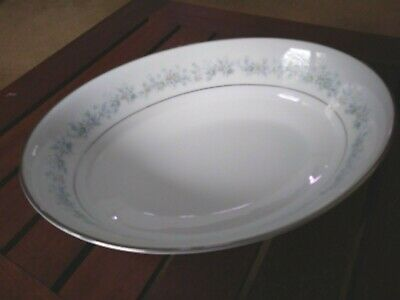 """Noritake Marywood 9 3/4"""" Oval Serving Bowl Contemporary Fine China 2181"""