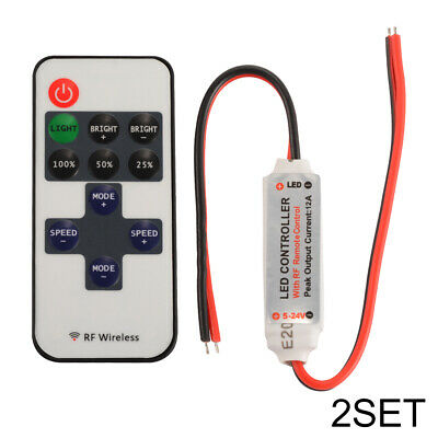 2X RF Remote Controller Dimmer Switch for 5050 3528 5630 LED Strip Light LD1449