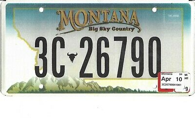 1966 MONTANA YELLOWSTONE County Billings City License Plate 3 45065