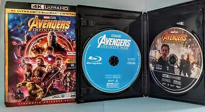 Pick 1 Avengers Infinity War 4K Ultra Hd Disc Or Blu-Ray Disc Or Slip Cover