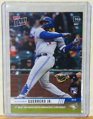 Vladimir Guerrero, Jr. RC 2019 Topps Now #229 1st MLB HR May 14
