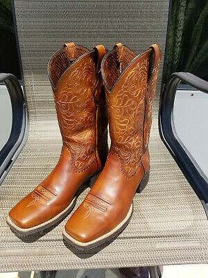 945ee109911 ARIAT WOMEN'S ROUND Up Ryder Cowgirl Boot WideSquare Toe - 10017390 ...