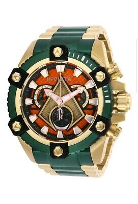 Invicta DC Comics Aquaman Grand Octane Arsenal LE 63mm Steel Swiss Mvt Watch