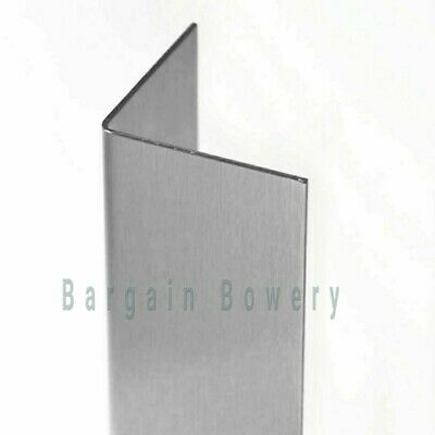"Stainless Steel Angle Corner Guard Wall Trim for Kitchen 18 Gauge 48""x1.5""x1.5"""