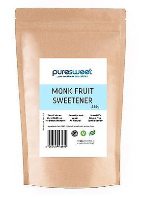 Puresweet Premium Natural Monk Fruit Sweetener 235g, Zero Calories
