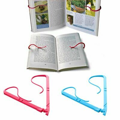1pc Books Stand Portable Hands Free Book Holder Folding Stand Holds Pages Open C