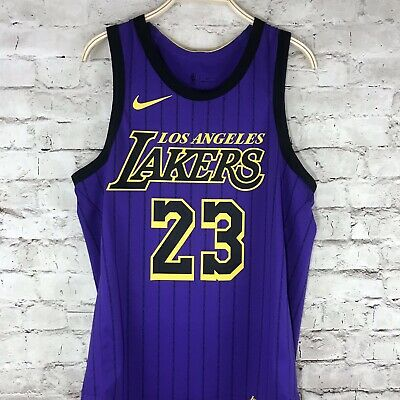 23e41184f41 Lebron James Lakers Authentic Jersey City Lore Edition Size 44 Medium Nike  2019