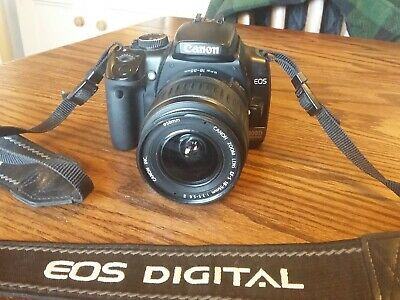 Canon EOS 400D 10.1MP Digital SLR Camera - Black with EFS 18-55 mm lens