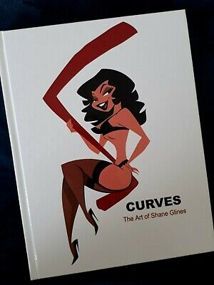 S Curves: The Art of Shane Glines ~ Original & Scarce 2006 1st Edition