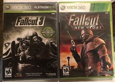 Fallout 3 and Fallout New Vegas  Works On Xbox 360 And Xbox One!! Both Sealed