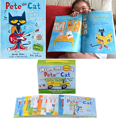 Pete the Cat Phonics 12 Mini Books Set for Children Kid Learn to Read Teach Book