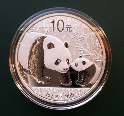 2011 China Panda 1 oz 999 Silver coin in plastic air-tite
