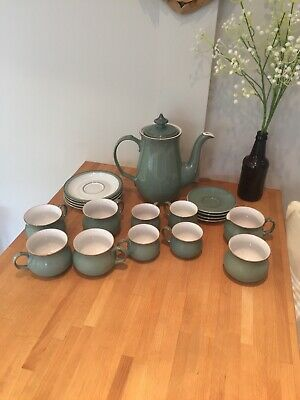 Denby Regency green coffee pot set **seconds**