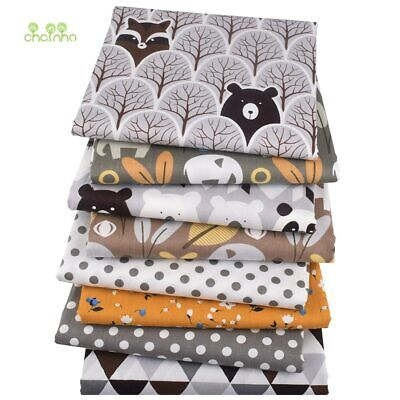 Chainho, 8pcs / Lot, Jungle Animaux, Série Imprimé Sergé Coton Tissu, Patchwork…