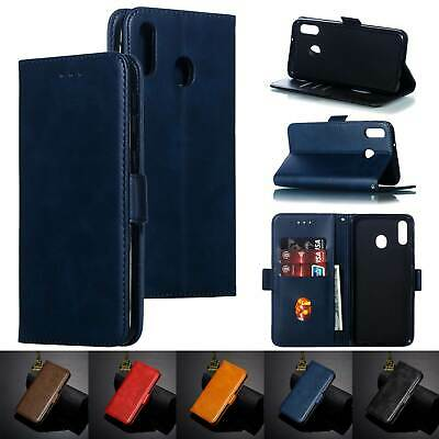 Retro Leather Wallet Stand Case Shockproof Cover For Galaxy M20 M10 A70 A50 A30