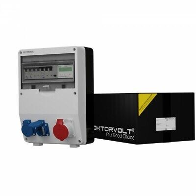 Distribution Board Power Box TD-S / fi 1x16A 2x230V with Electricity mid