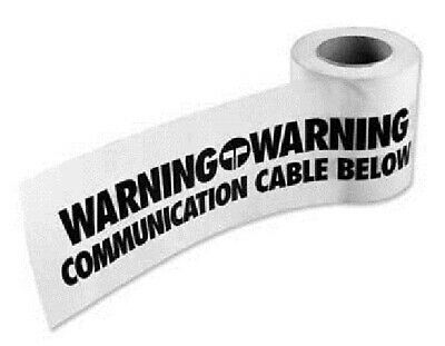 "Omega Power UNDERGROUND WARNING TAPE 500mx150mm ""Communication Cable Below""White"