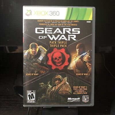 Microsoft Xbox 360 | Gears of War Triple Pack | Complete In Box CIB
