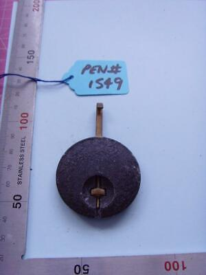 pen#1549 Single  1930's  mantle  clock parts pendulum  72mm top to bottom
