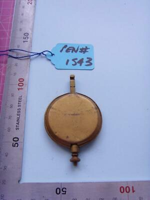 pen#1543  Single  1930's  mantle  clock parts pendulum  75mm top to bottom