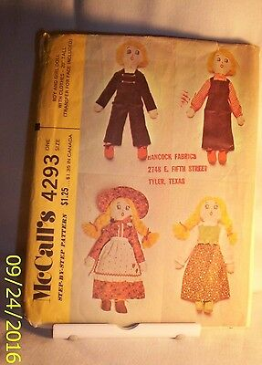 Pattern  E72  M.4293 BOY AND GIRL DOLL WITH CLOTHES