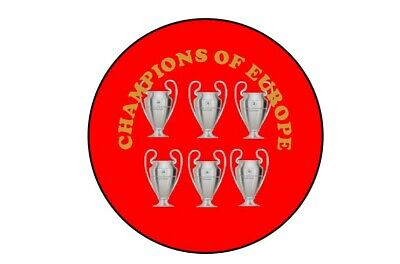 Liverpool Champions of Europe Badges Badge 58mm 2.2 inches Champions League