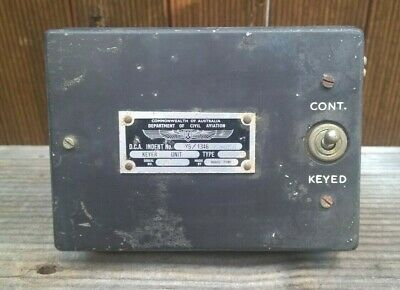Vintage Aircraft - Department Of Civil Aviation Keyer Unit - Venner - Switch