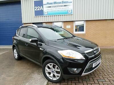 FORD KUGA 2.0 TDCi (140ps) ZETEC,PANTHER BLACK,56+MPG,IMMACULATE EXAMPLE