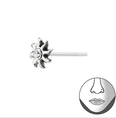 Sterling Silver 925 Sun Nose Stud 3 49 Picclick Uk
