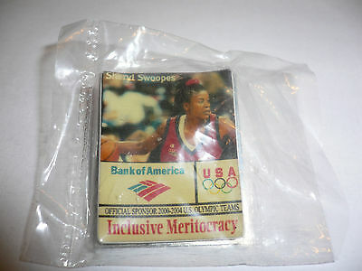 2000 Olympic Games Sydney USA BASKETBALL Sheryl Denise Swoopes Sponsor Pin
