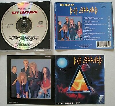 Def Leppard The Best Of Cd *Very Rare Bulgarian Compilation* Pyromania, Hysteria