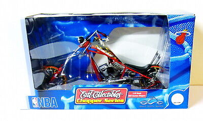 NBA Miami Heat Ertl Collections Chopper Series Motorcycle 1:10 Scale OCC Red Blk