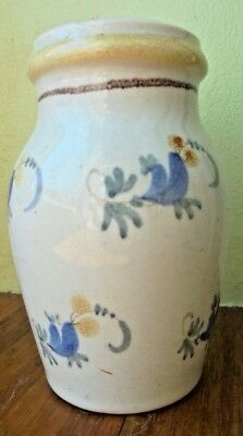 Rare ancien moutardier18ou19eme  faience de nevers ? de l'est ? la rochelle, ?