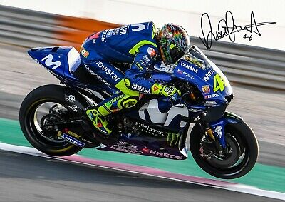 VALENTINO ROSSI A4 Pre-Print Signed Photo Motorcycle Racer Racing MotoGP [1237]