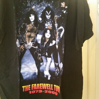 984798a5 KISS THE FAREWELL TOUR 1973-2000 T-Shirt Size XL very good condition