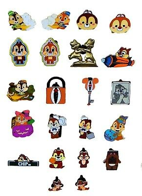 Chip & Dale Themed 5 Disney Park Trading Pins ~ Randomly Assorted ~ Brand NEW