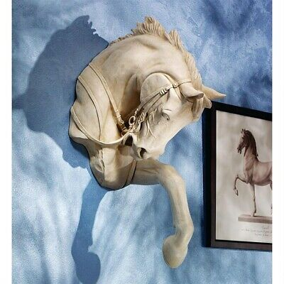 Equestrian Thoroughbred Horse Charging Through the Wall Mounted Sculpture 3D