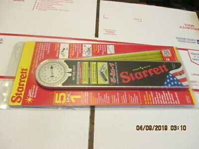 "o79) STARRETT Machined Aluminum Frame Combination Miter Protractor,12"" CP505A-12"