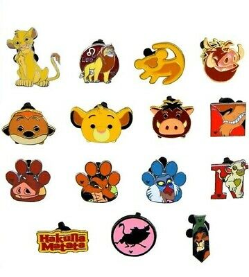 Lion King Themed 5 Disney Park Trading Pins Set ~ Randomly Assorted ~ Brand NEW