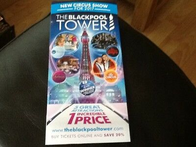 The Blackpool Tower Leaflet 2017 . NEW CIRCUS SHOW