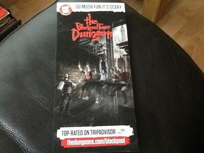 The Blackpool Tower DUNGEON  advertising Leaflet 2017 .